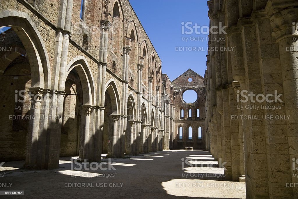 San Galgano Church stock photo