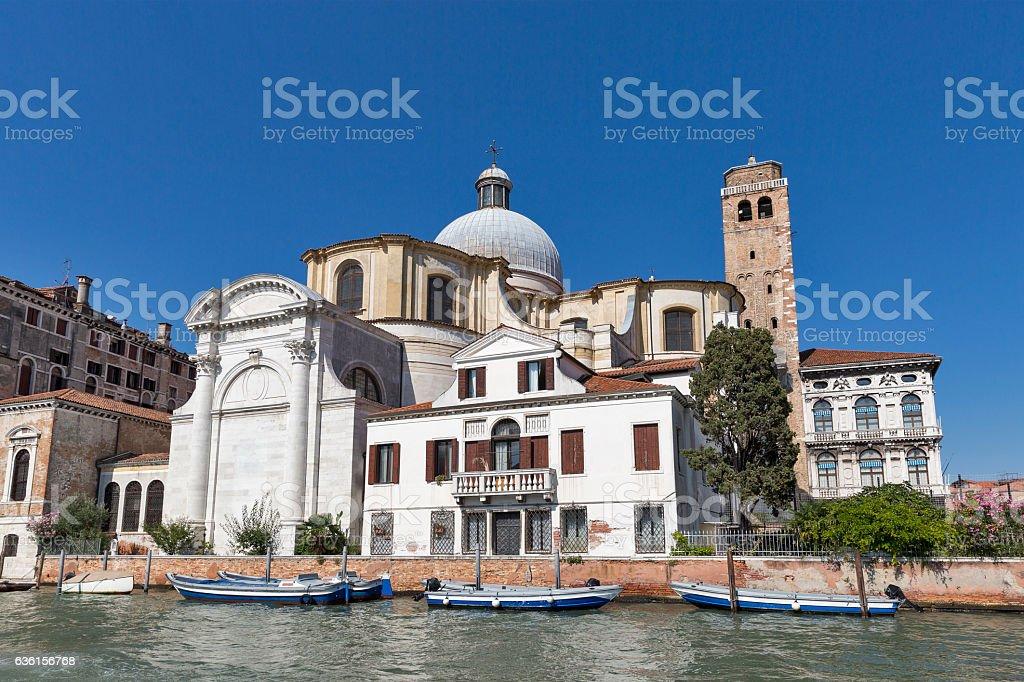 San Geremia church in Venice, Italy. stock photo