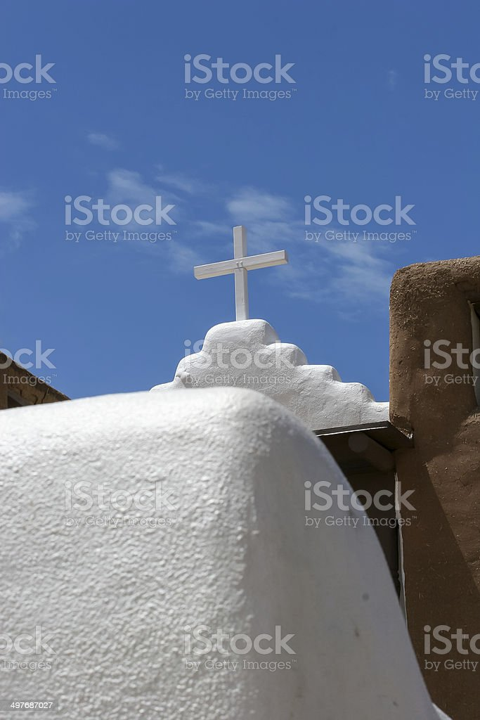 San Geronimo Chapel in Taos Pueblo, USA stock photo
