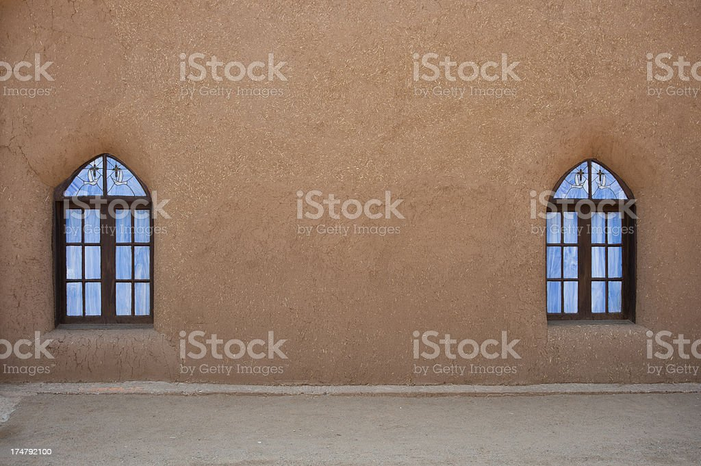 San Geronimo Church Windows stock photo