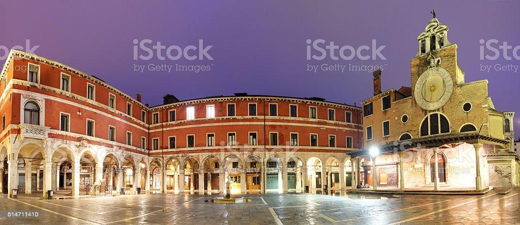 San Giacomo di Rialto, church in Venice. stock photo