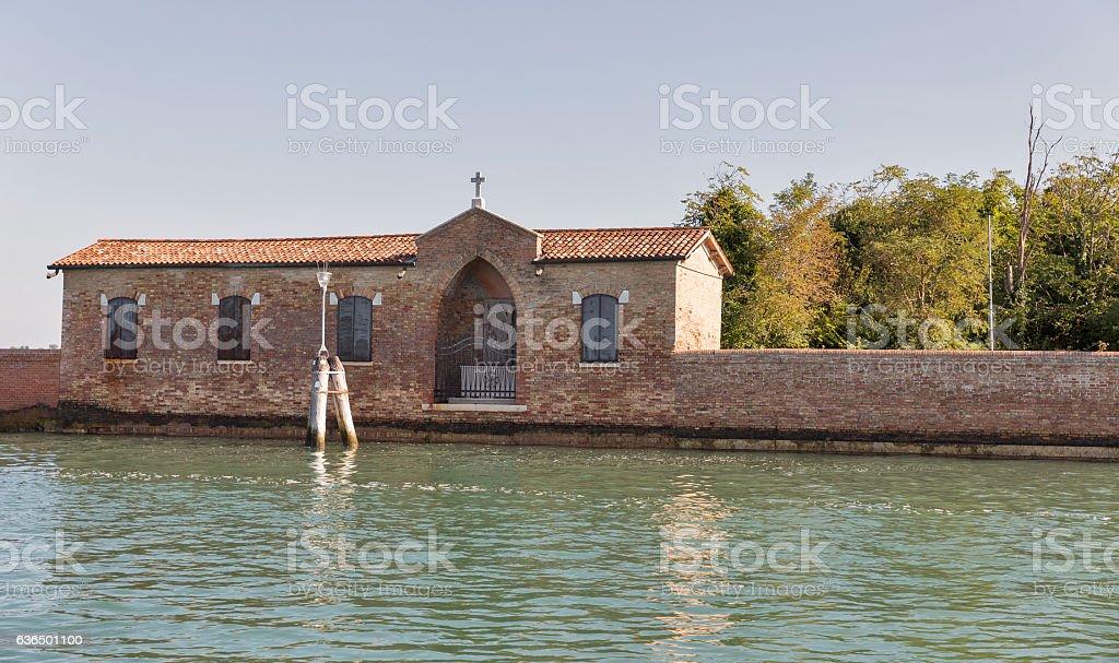 San Giacomo in Paludo island in Venice lagoon, Italy. stock photo