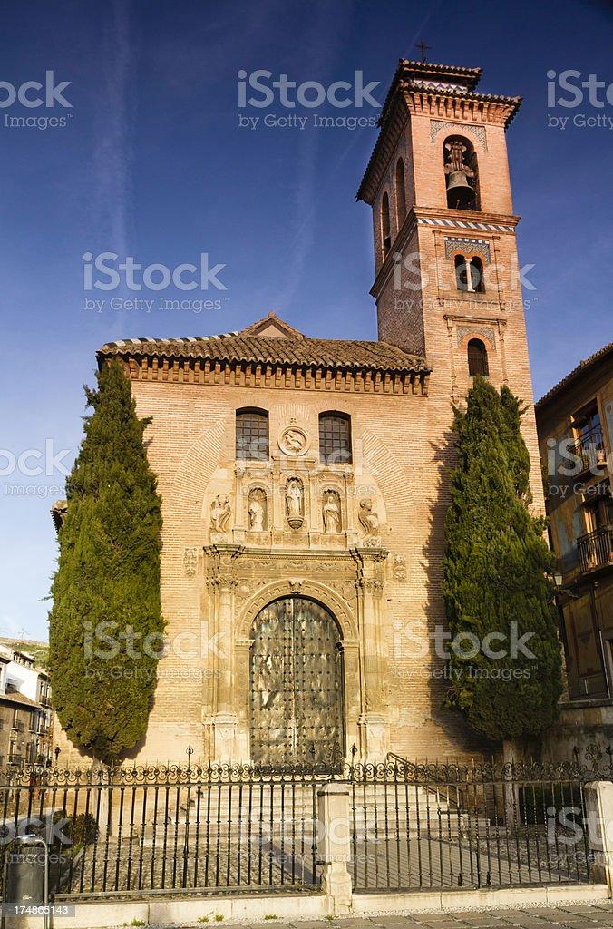 San Gil y Santa Ana Church in Granada royalty-free stock photo