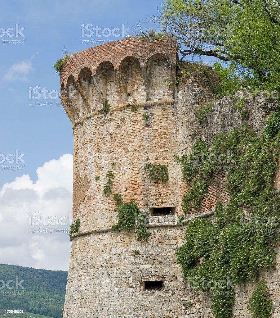 San Gimignano city wall royalty-free stock photo