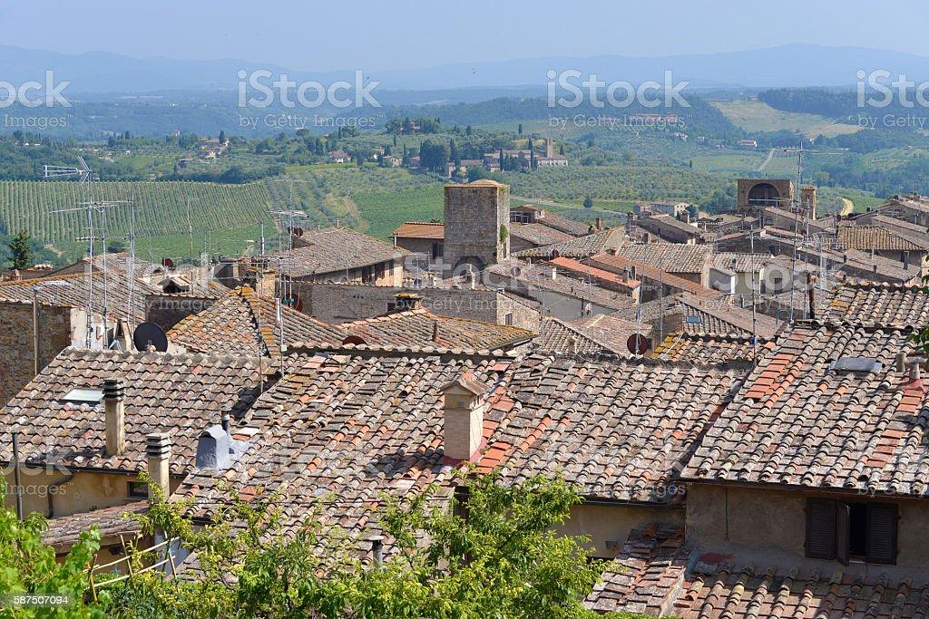 San Gimignano in Italy stock photo