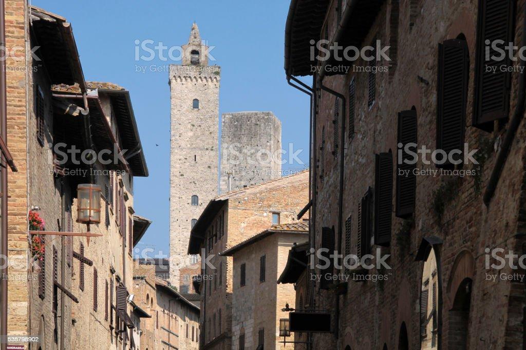 San Gimignano in Tuscany stock photo
