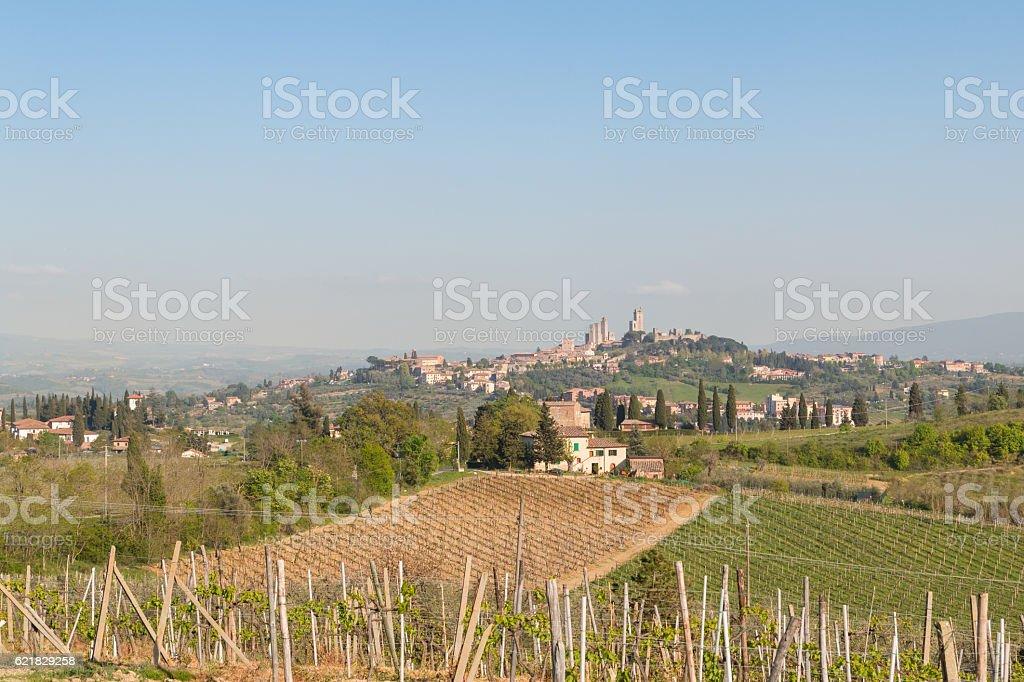San Gimignano medieval town stock photo