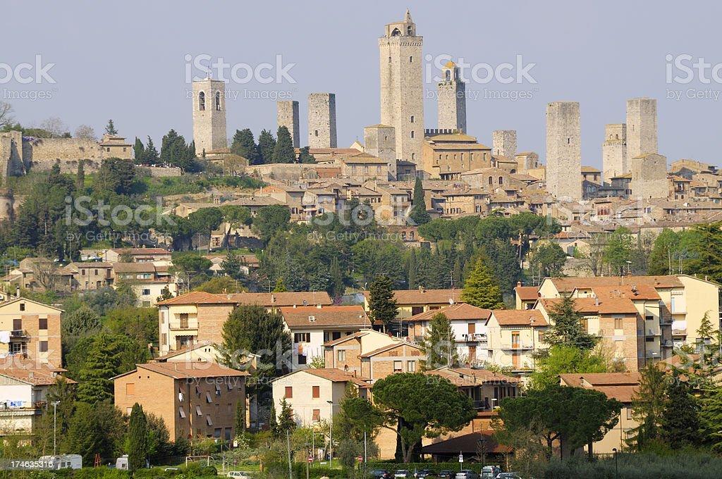 San Gimignano skyline,Tuscany royalty-free stock photo