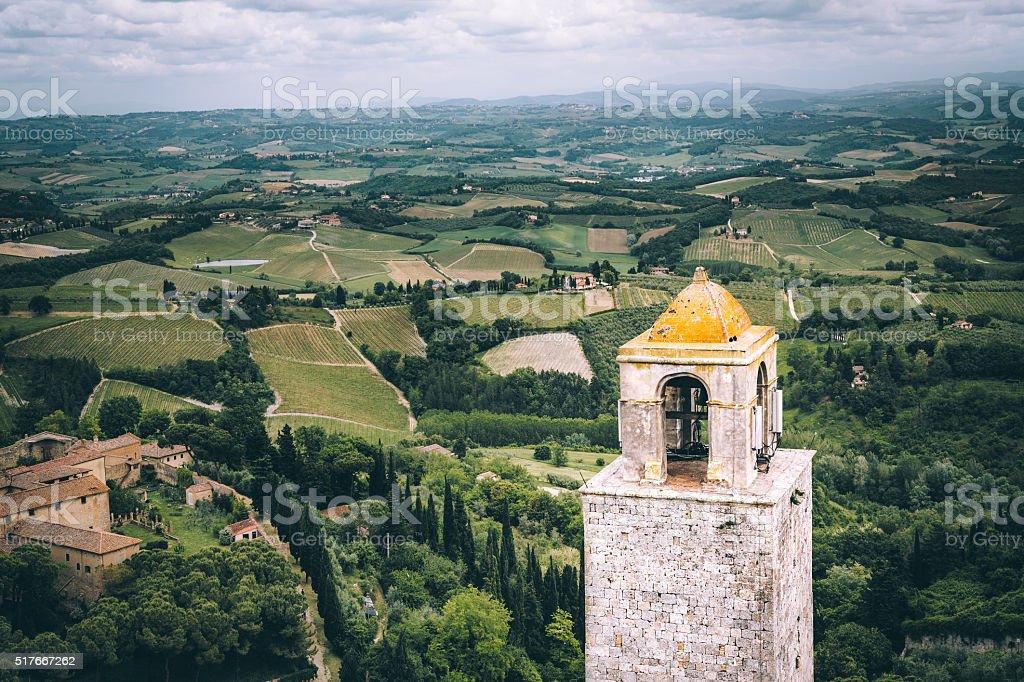 San Gimignano Tower stock photo