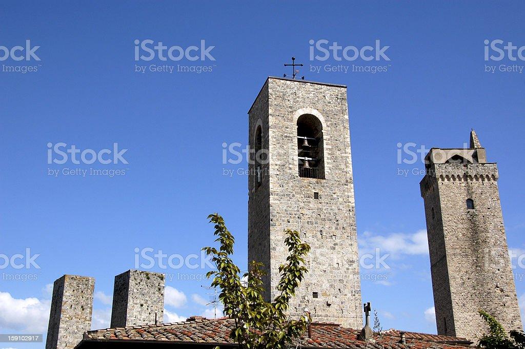 San Gimignano towers royalty-free stock photo