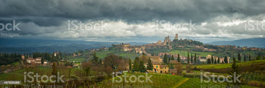 San Gimignano Tuscany stock photo