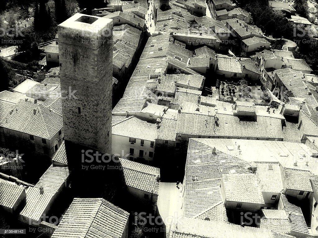 San Gimignano, Tuscany stock photo