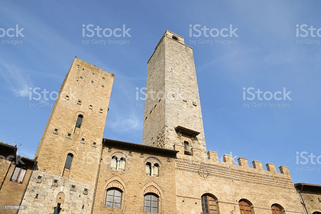 San Giminiano in the province of Siena, Tuscany stock photo