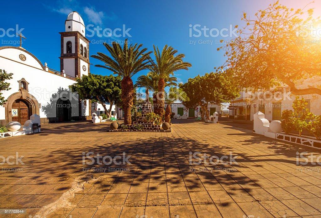San Gines church in Arrecife city on Lanzarote island stock photo