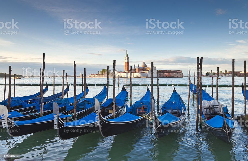 San Giorgio and Gondolas, Venice royalty-free stock photo