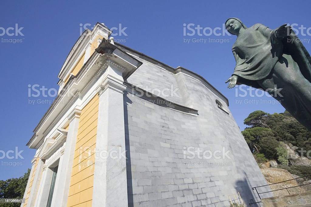 San Giorgio Church in Portofino, Italy royalty-free stock photo