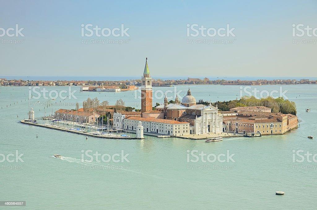San Giorgio island, Venice, Italy royalty-free stock photo