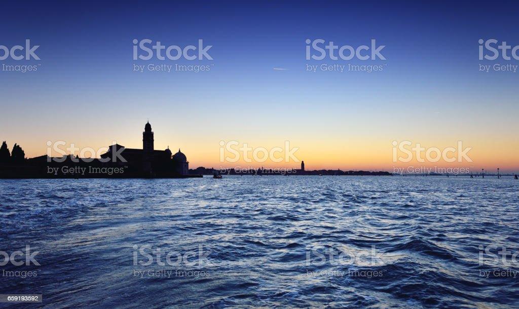 San Giorgio Maggiore and Venetian Lagoon stock photo