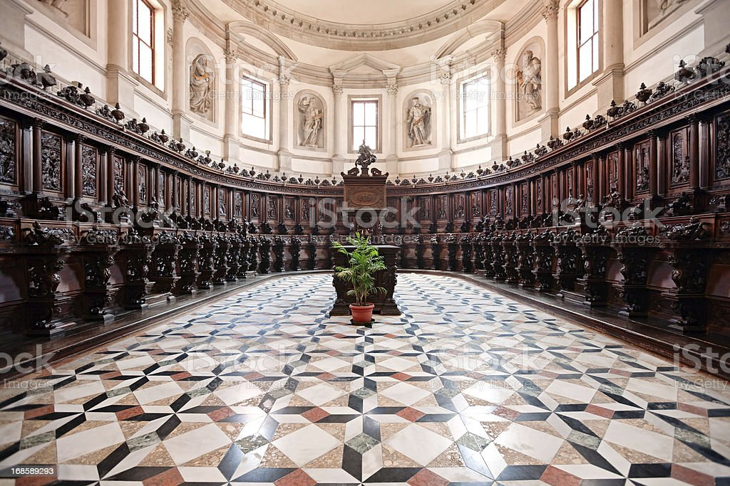 San Giorgio Maggiore Choir, Venice, Italy royalty-free stock photo