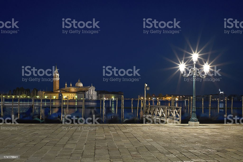 San Giorgio Maggiore church Long exposure By Night. royalty-free stock photo