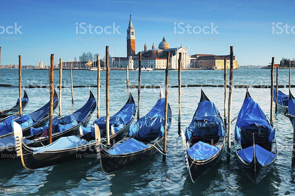 San Giorgio Maggiore church, Venice - Italy stock photo