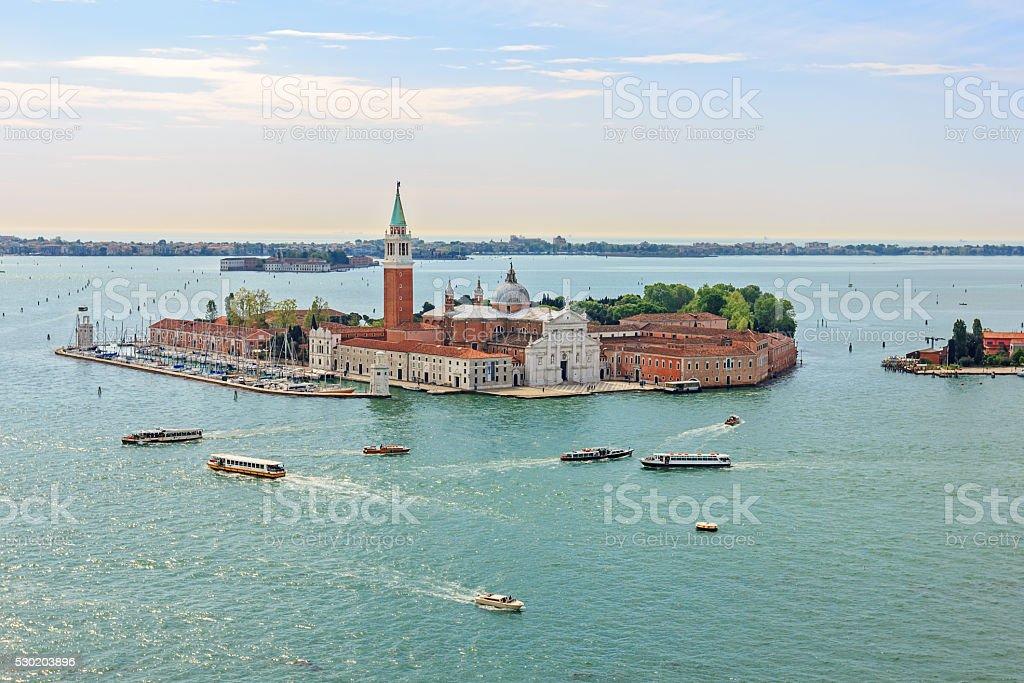 San Giorgio Maggiore island. stock photo