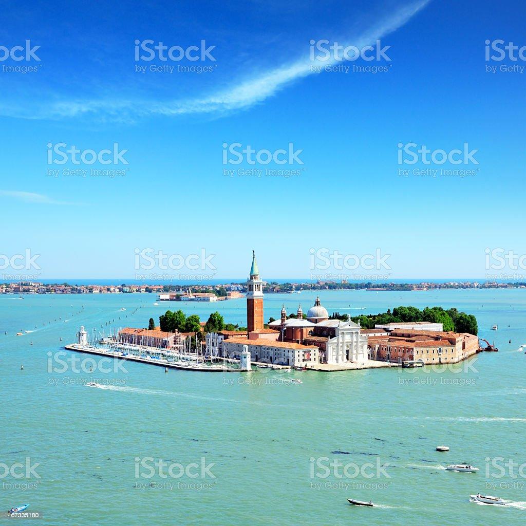 San Giorgio Maggiore island. Venice, Italy stock photo