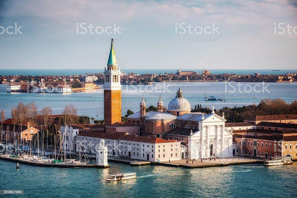 San Giorgio Maggiore island, Venice stock photo