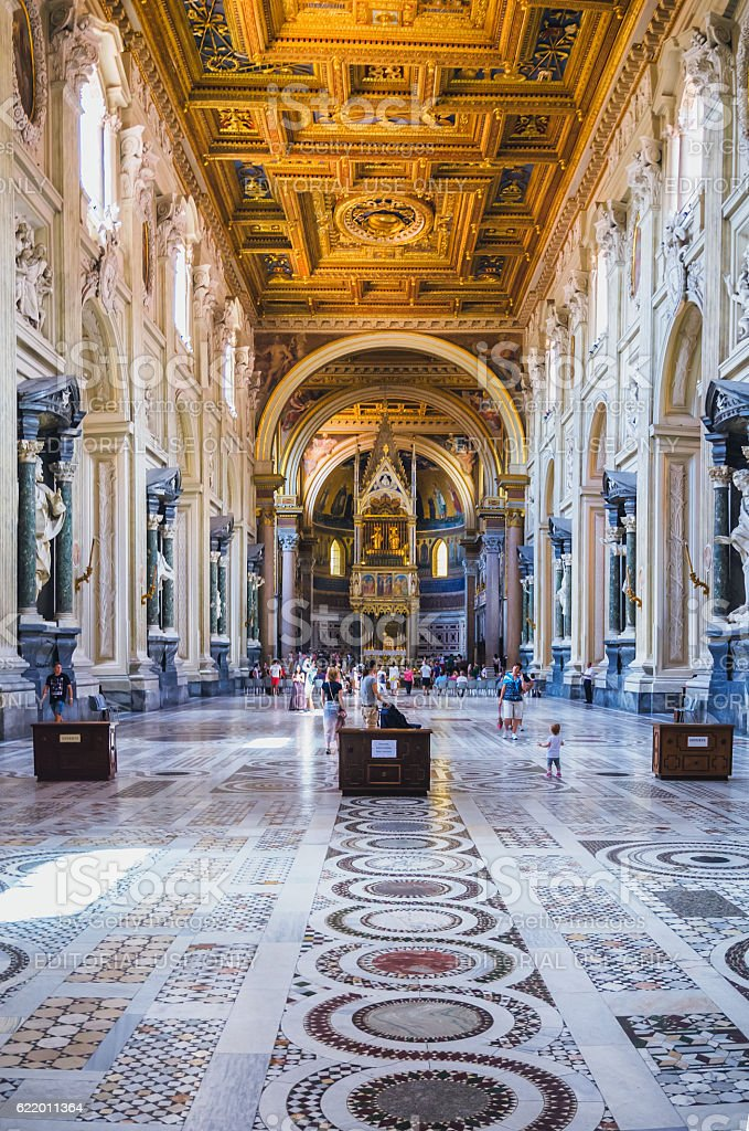 San Giovanni in Laterano Cathedral, Rome, Italy stock photo