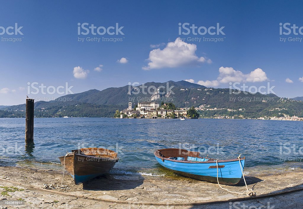 San Giulio island royalty-free stock photo