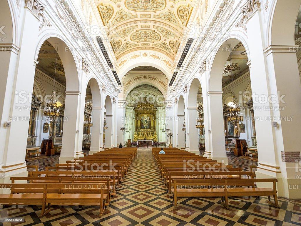 San Ignacio de Loyola church in central Santiago stock photo