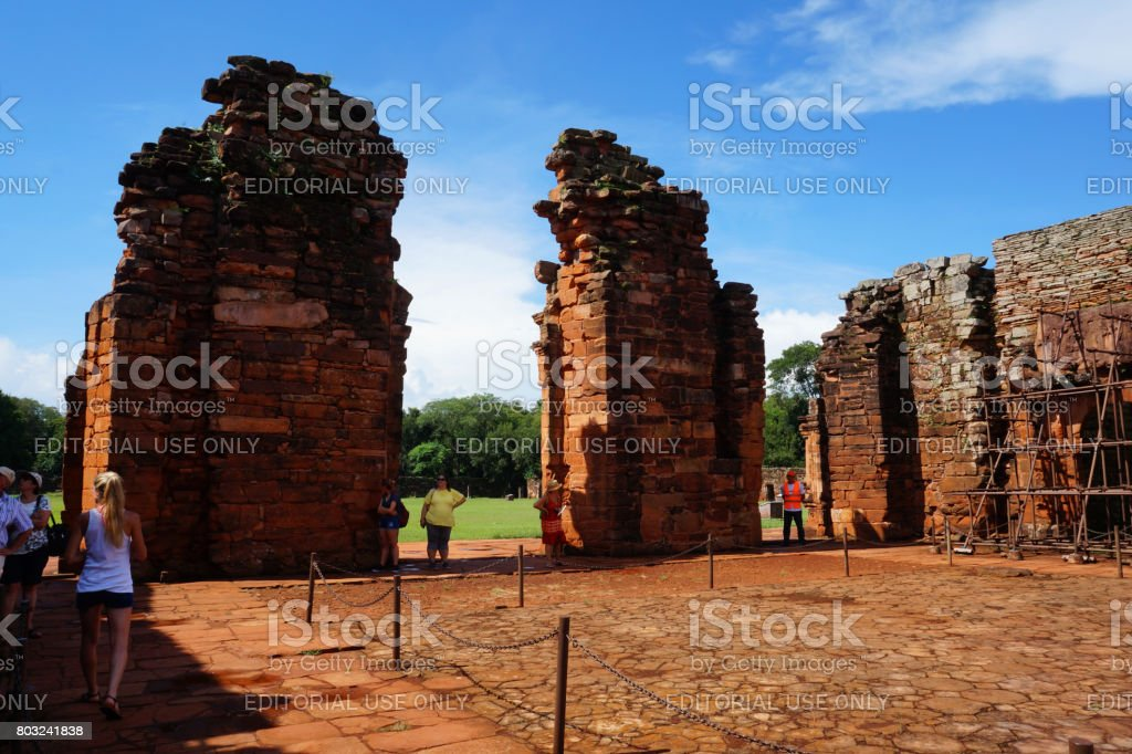 San Ignacio ruins stock photo