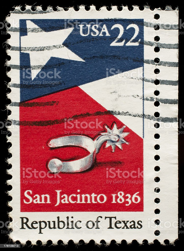San Jacinto 1836 postage stamp royalty-free stock photo