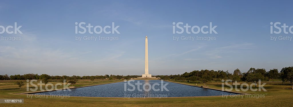 San Jacinto Monument - Day Pano wide stock photo