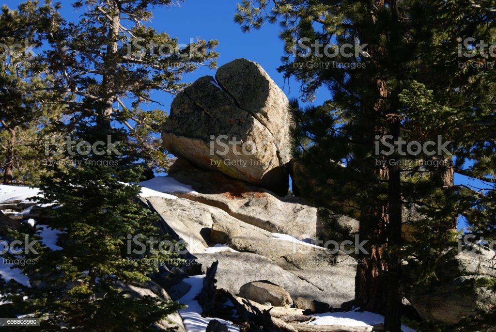 San Jacinto Mountains - Trail Area stock photo