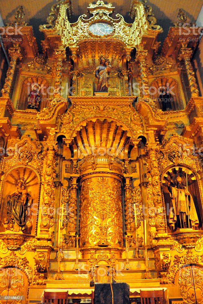 San Jos? Church altar, Panama City stock photo