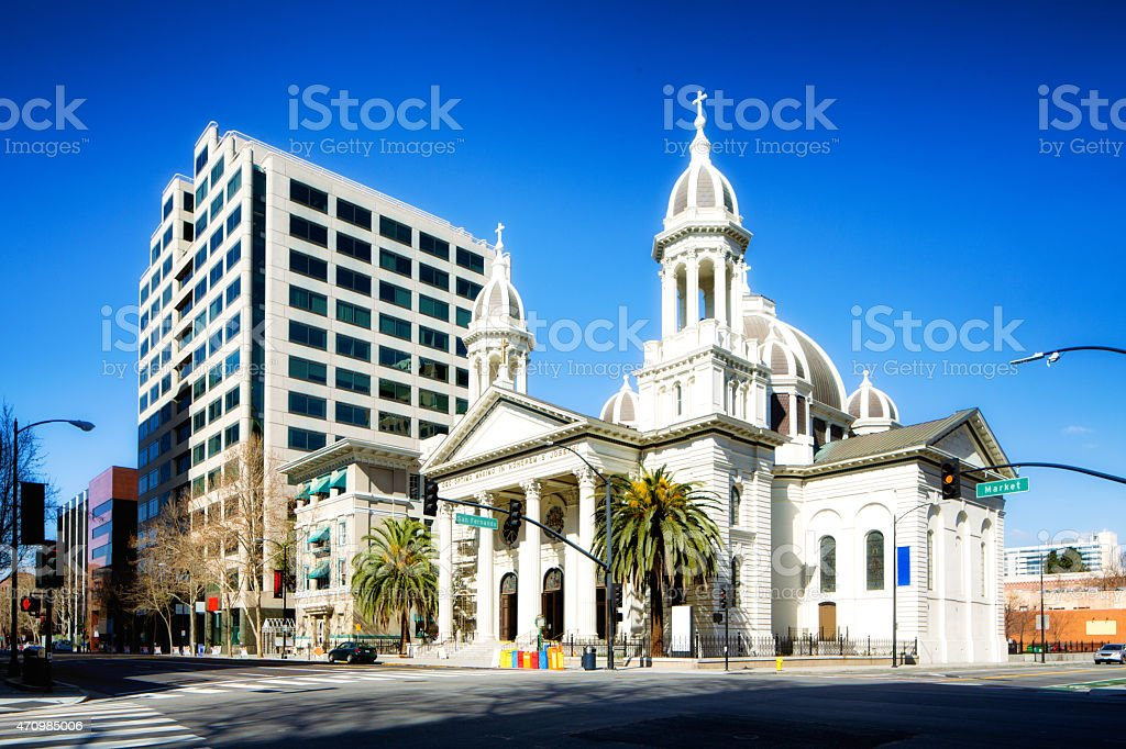San Jose California Saint Joseph Cathedral stock photo