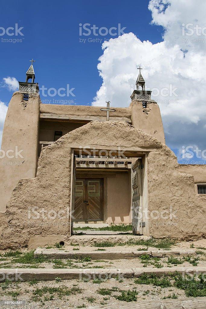 San Jose de Gracia Church in Las Trampas, New Mexico stock photo
