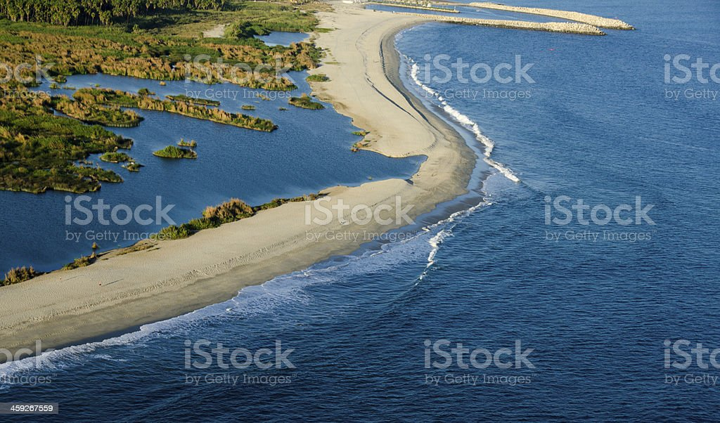 San Jose del Cabo Beach From Above stock photo