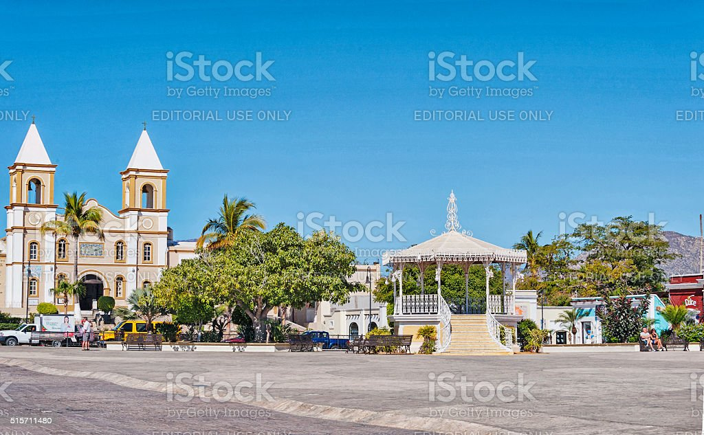 San Jose del Cabo Church stock photo