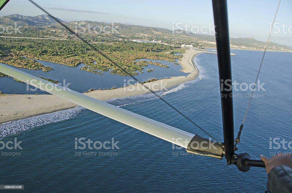 San Jose Del Cabo estuary from above stock photo