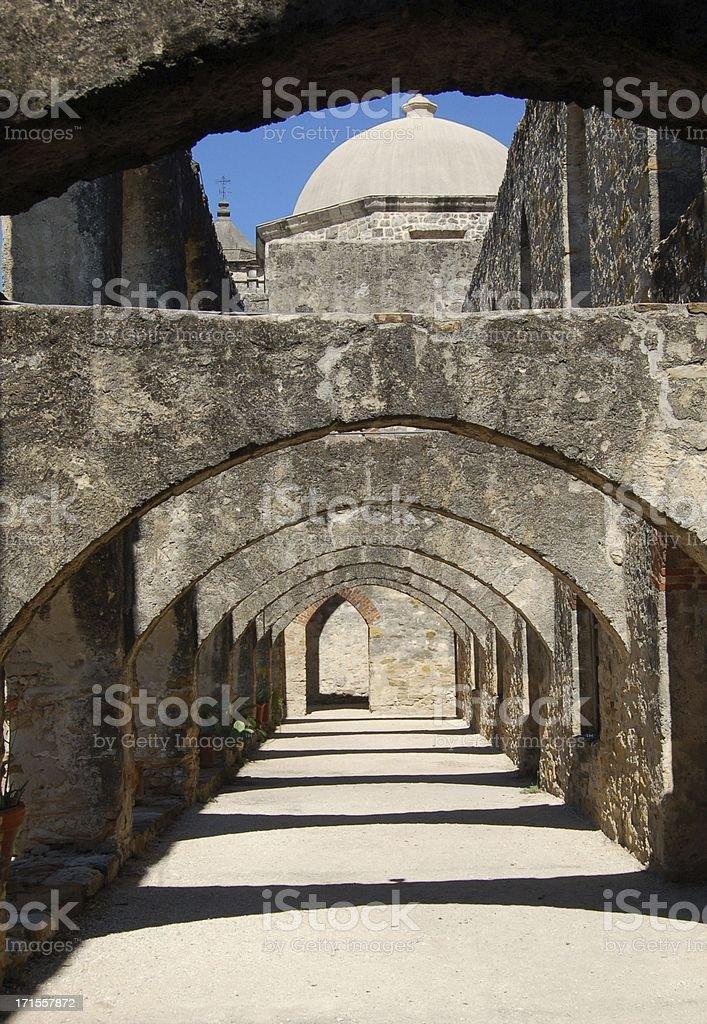San Jose Mission Arches stock photo