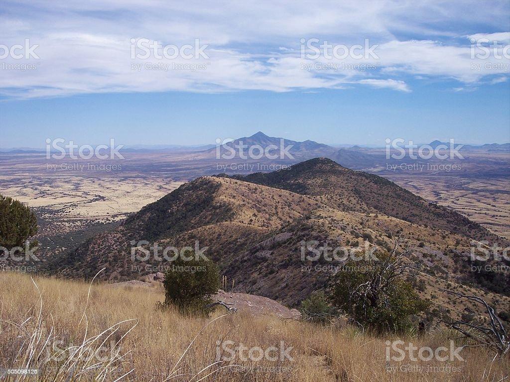 San Jose Peak seen from Montezuma Pass stock photo