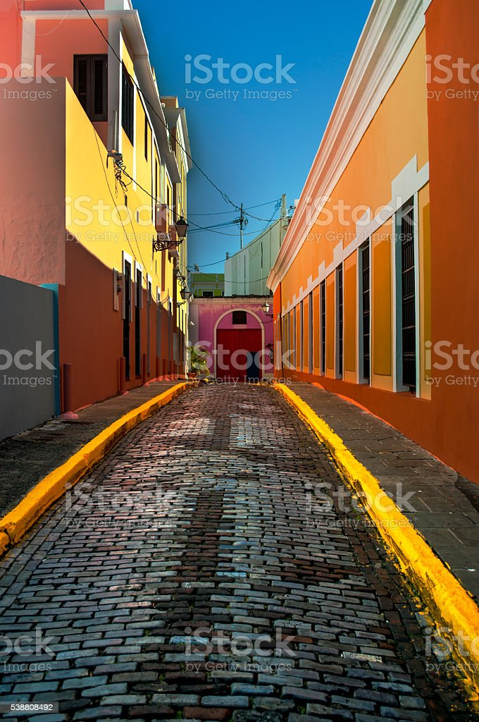 San Juan Alley Way stock photo