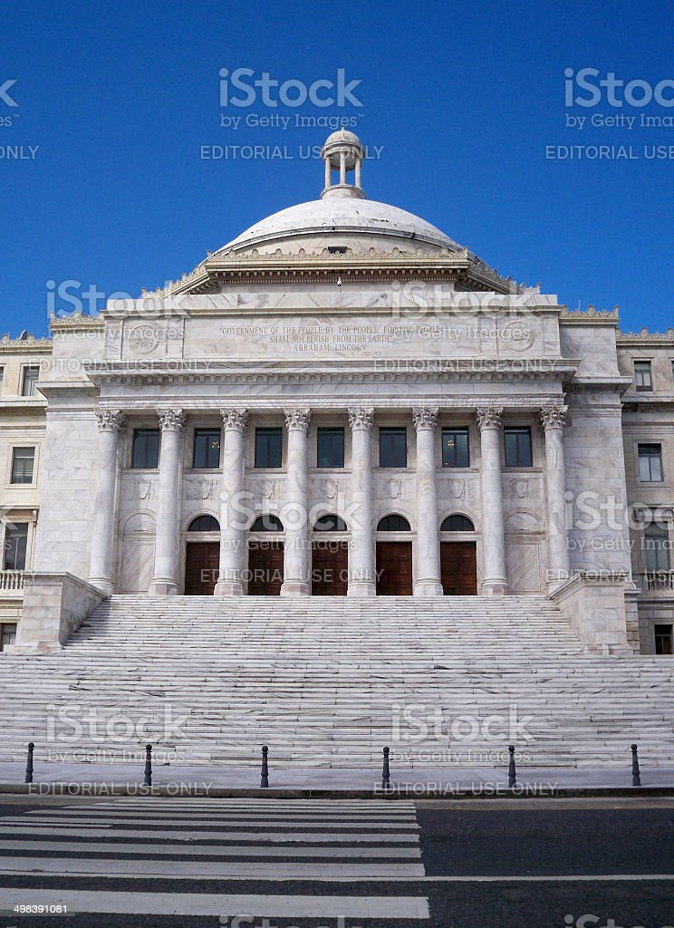 San Juan Capitol Building stock photo