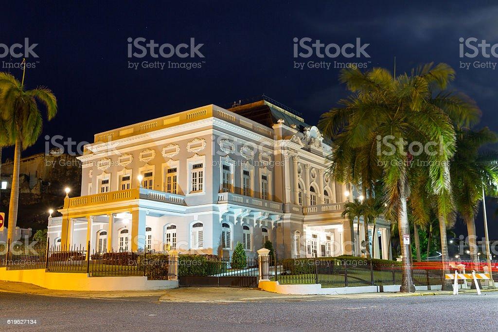 San Juan Casino at night stock photo