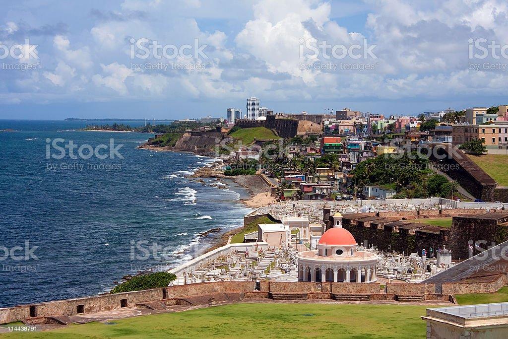 San Juan Cemetary stock photo