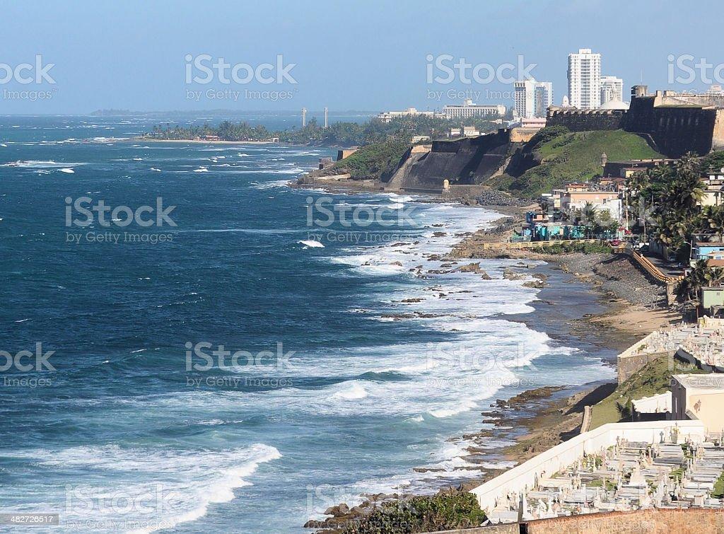 San Juan Coast stock photo
