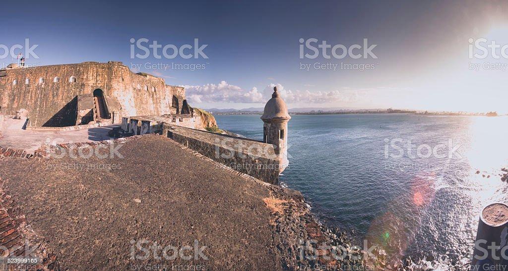 San Juan El Morro Fortress Panoramic stock photo