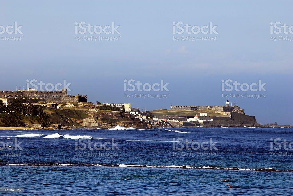 san juan fort city stock photo